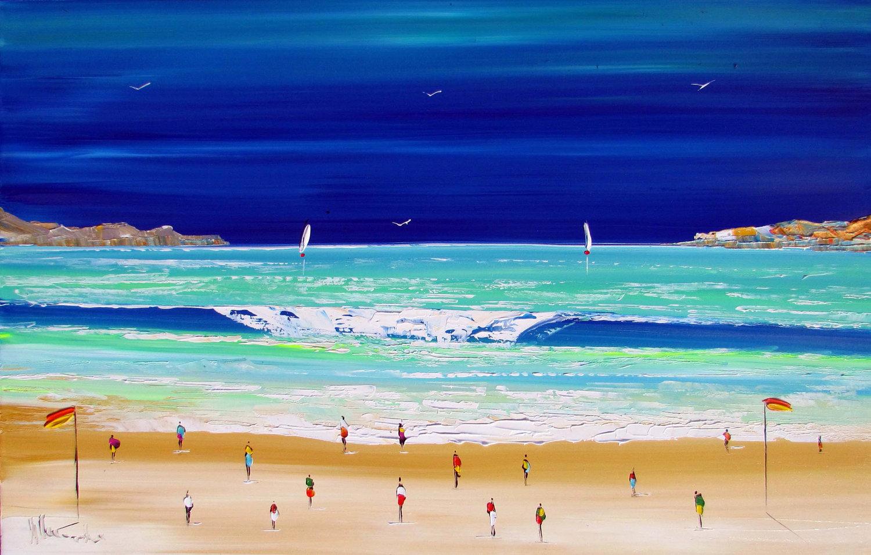 painting of beach in Australia